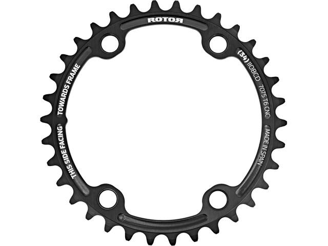 Rotor Aldhu Kettenblatt 110x4 innen rund schwarz/matt